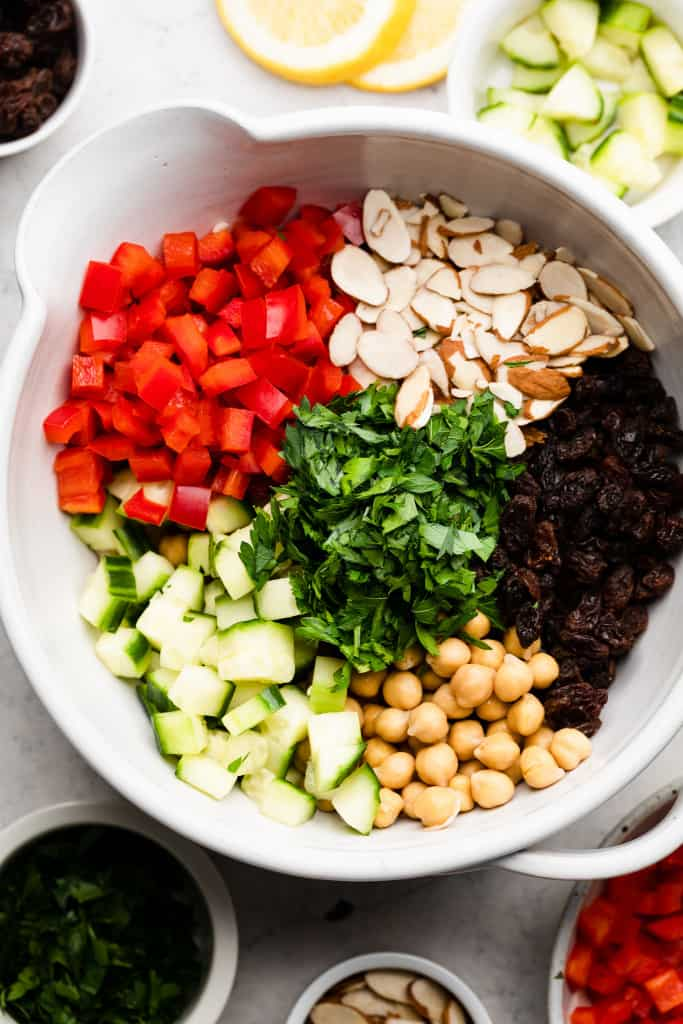 ingredients for moroccan cous cous salad