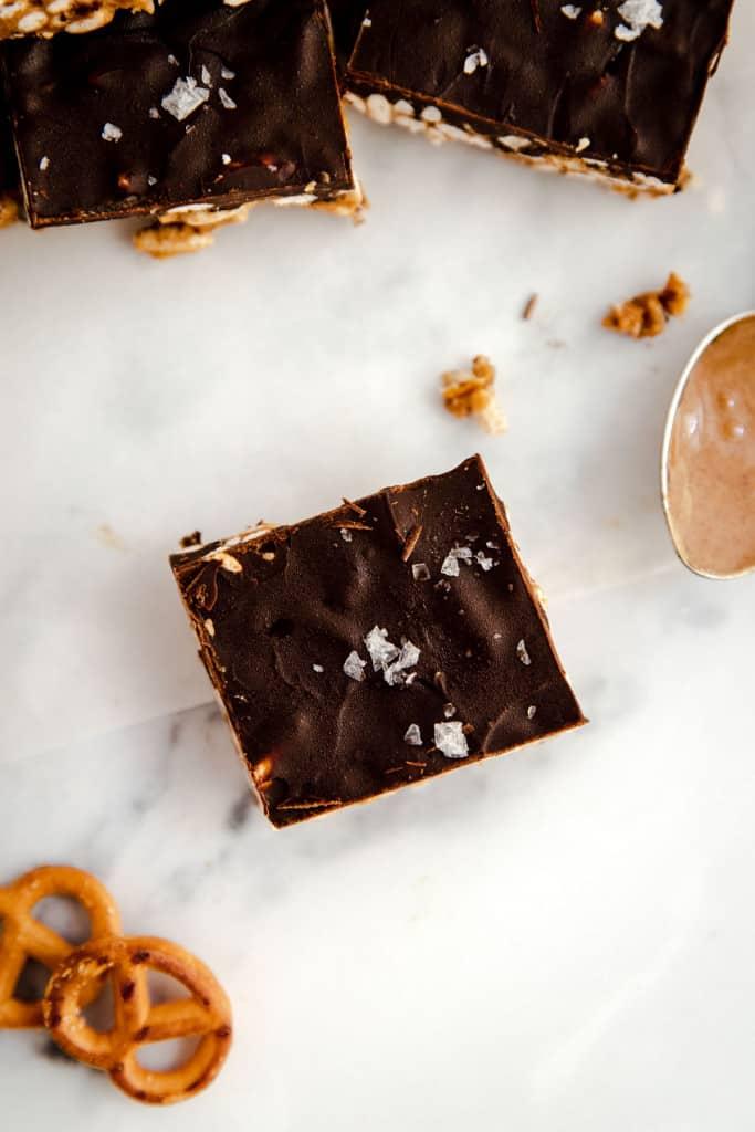 peanut butter krispie bars