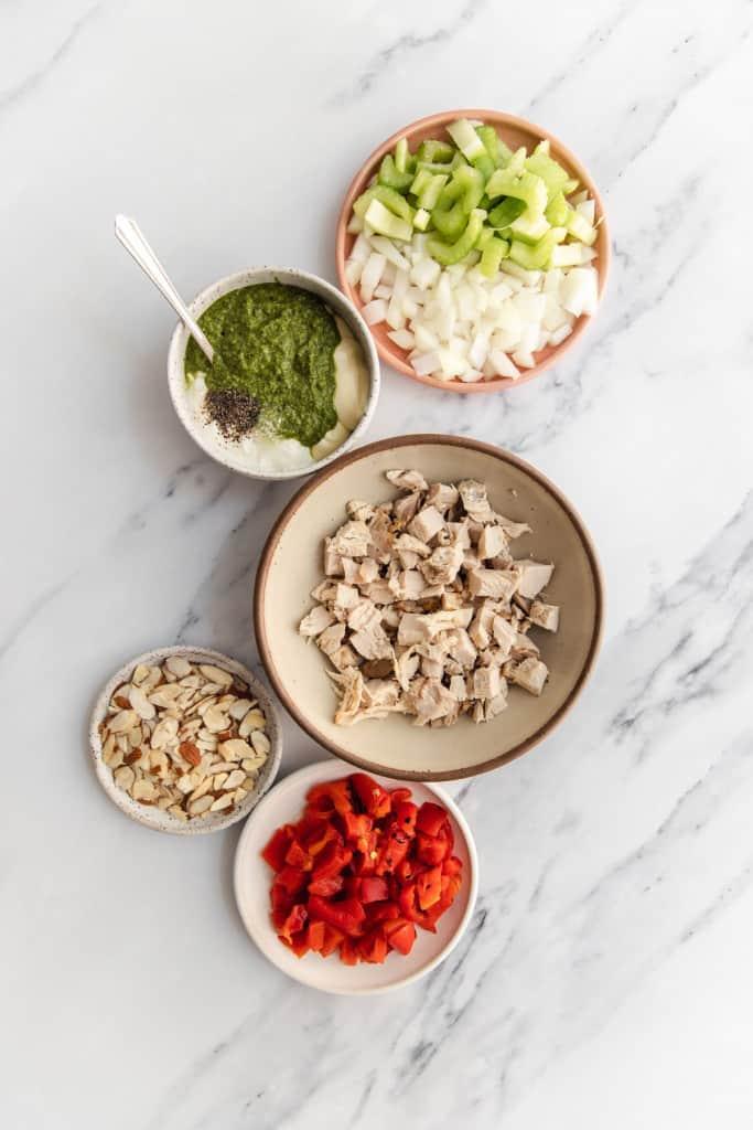pesto chicken salad ingredients