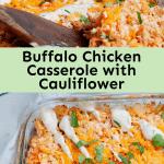 Buffalo Chicken Casserole with Cauliflower