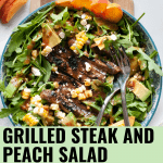 grilled peach and steak salad