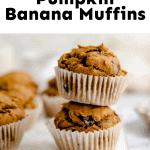 Healthy Pumpkin Banana Muffins