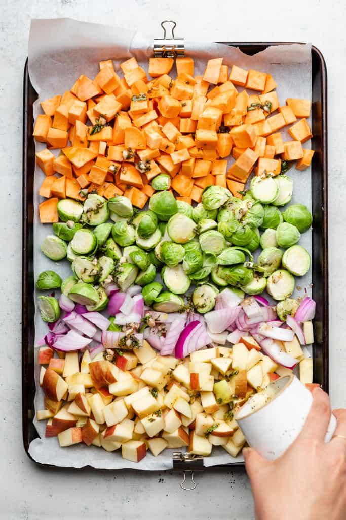 veggies on tray